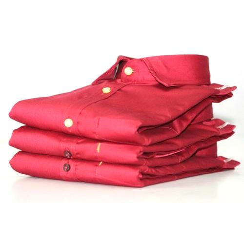 Mens Plain Red Shirt