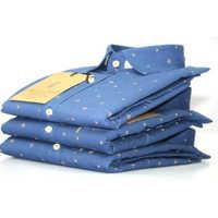 Men Blue Printed Shirt