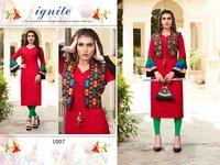fashion valley fancy designer navratri collection kachchhi style reyon redimade kurti
