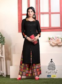kurti With plazo design