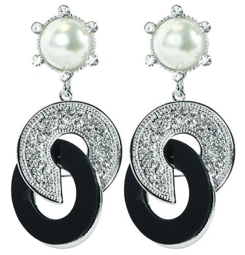 Black Wheelie Earrings