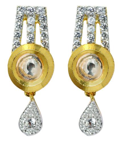 Kundan Dot Earring