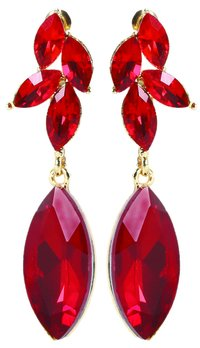 Magic Maroon Drop Earring