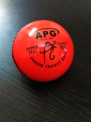 APG Orange Indoor Leather Cricket Ball