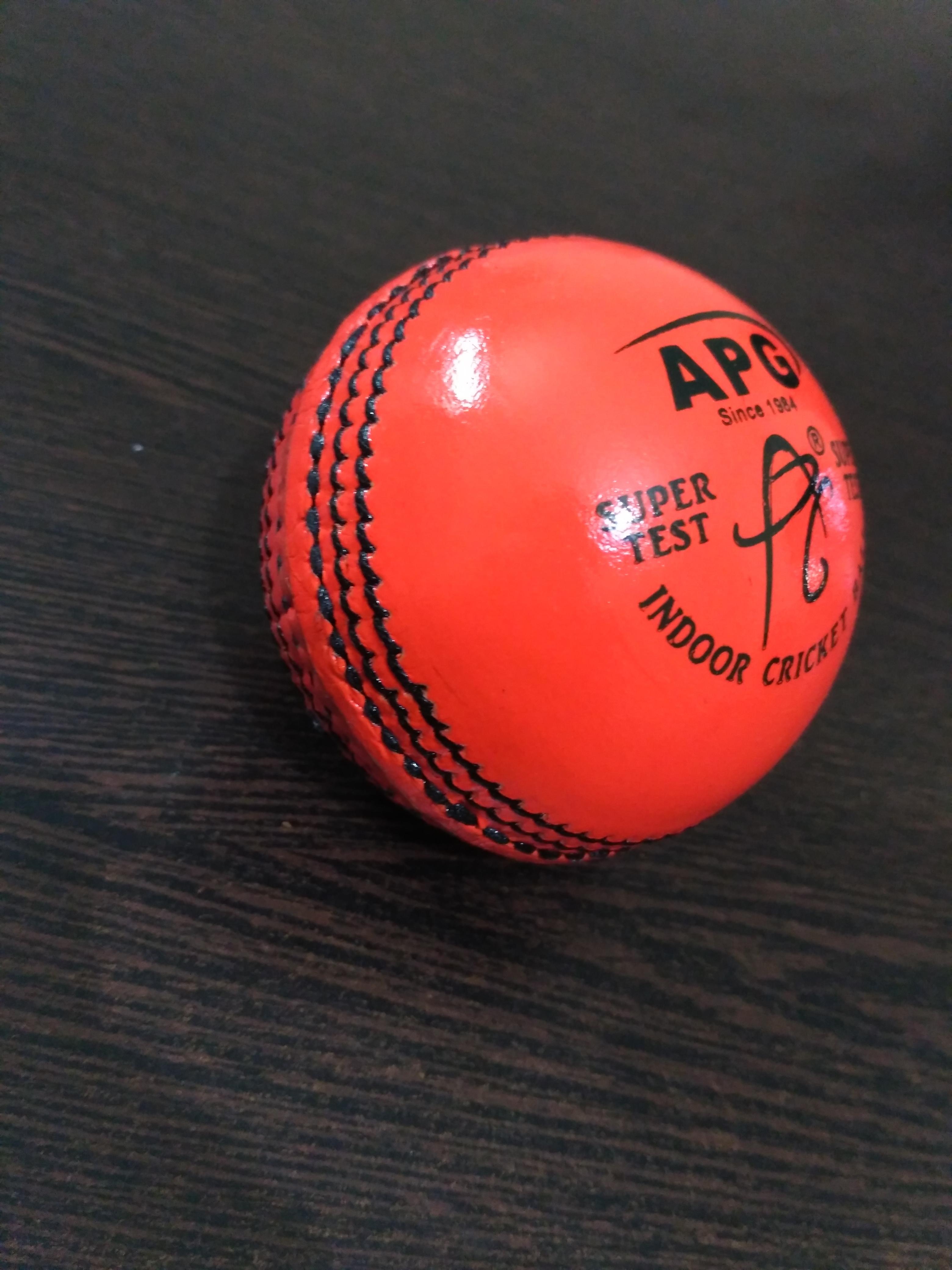 APG Orange Indoor Leather Cricket Ball