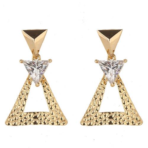 Gold Glass Earring