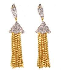 Golden Jhallar Earring