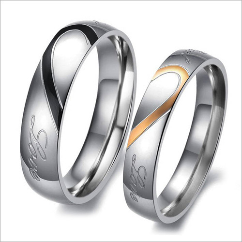 Heart 'Real Love' Stainless Steel Couple Rings
