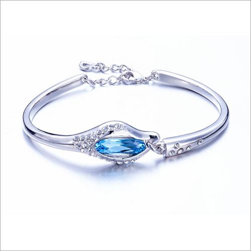 Crystals from Swarovski Denim Blue Designer Crystal Bangle Bracelet