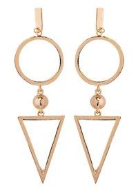 Gold Traingle Earring