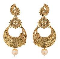 Gold Moti Earring