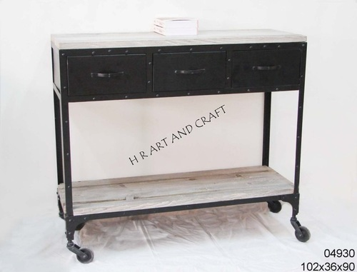 CONSOLE TABLE WITH THREE DRAWER