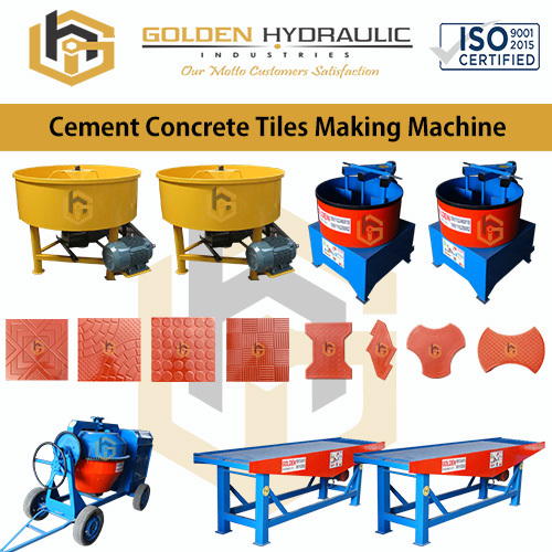Cement Concrete Tile Making Machine