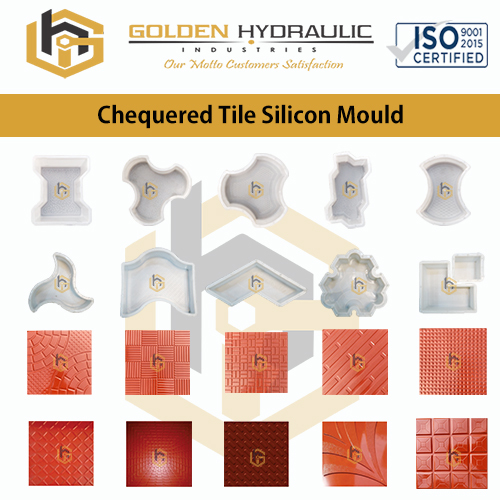 Chequered Tile Silicon Moulds
