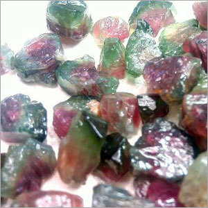 Watermelon Tourmaline Rough Stone