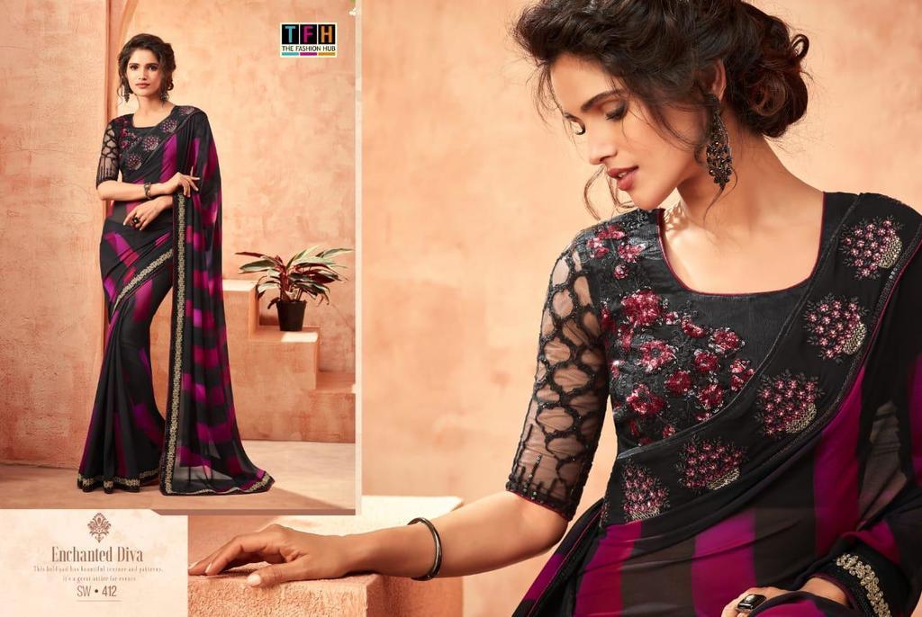 Fancy Beautiful Designer Sarees Online