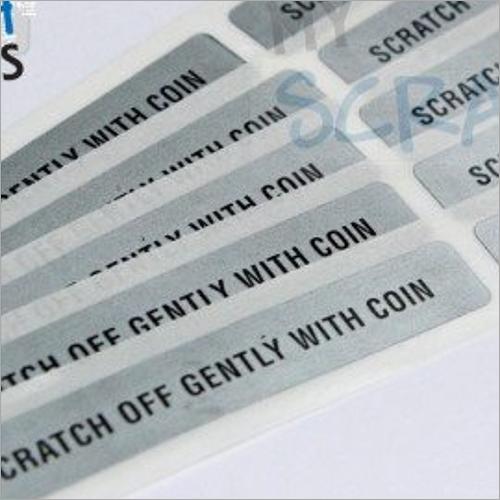 Scratch Sticker Label