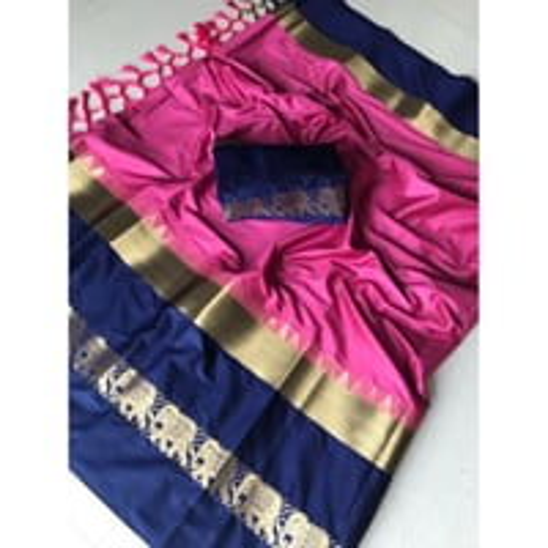 Designer Cotton  Zari Work Saree