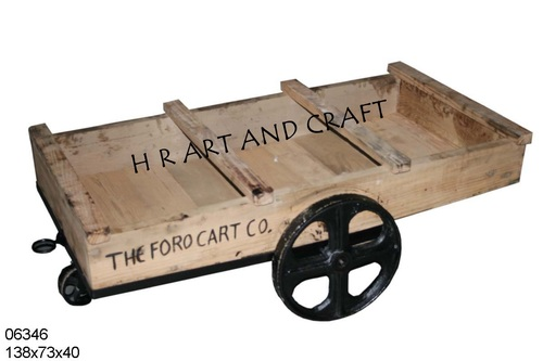 WOODEN TROLLY