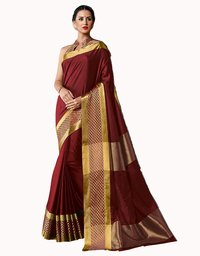 Fancy Design Cotton Silk Saree