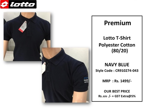 Premium Lotto PC Navy Blue T Shirt CR910274-043