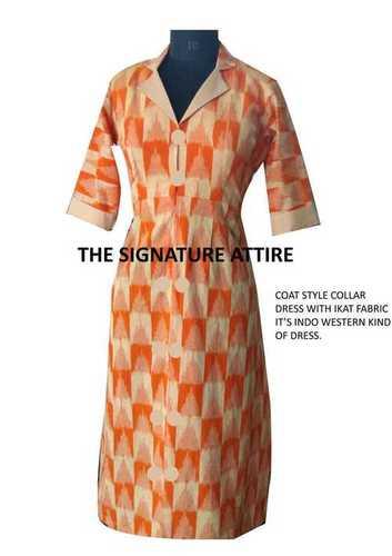Khadi Western Long Dress