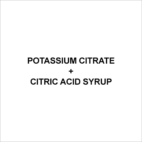 Citric acid syrup