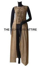 Pure Cotton long dress with handwork and Cotton Pants