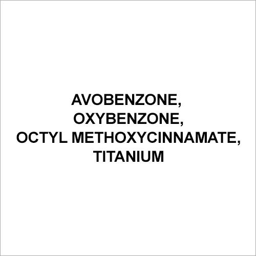 Avobenzone, Oxybenzone,Octyl Methoxycinnamate, Titanium