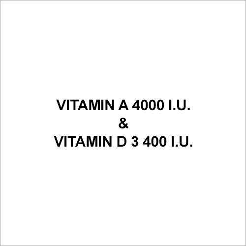 Vitamin A 4000 I.U. & Vitamin D 3 400 I.U.