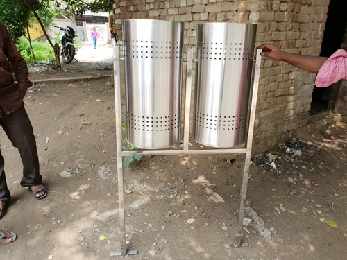 Stainless Steel Outdoor Dustbin 100L