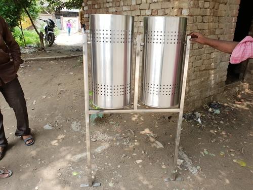 Stainless Steel Outdoor Dustbin 100L