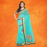 Exclusive Chanderi Saree With Butta