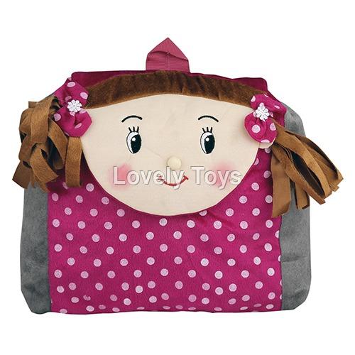 Kids Designer Soft Plush Backpack