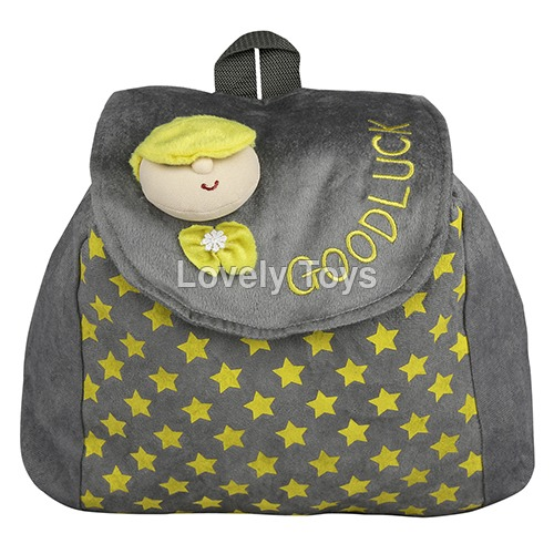 Kids Printed Plush School Bag
