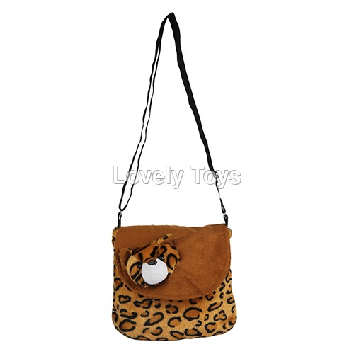 Brown Kids Soft Sling Bag