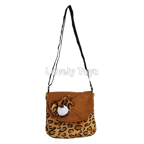 Brown Kids Soft Sling Bag