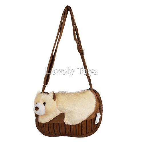 Cotton Brown Kids Soft Sling Bag
