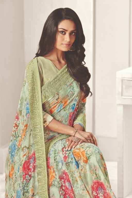 Modern Ethnic Printed Sarees