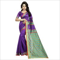 Fancy Printed Cotton Silk Saree