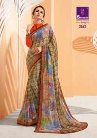 Daily Wear Georgette Printed Sarees
