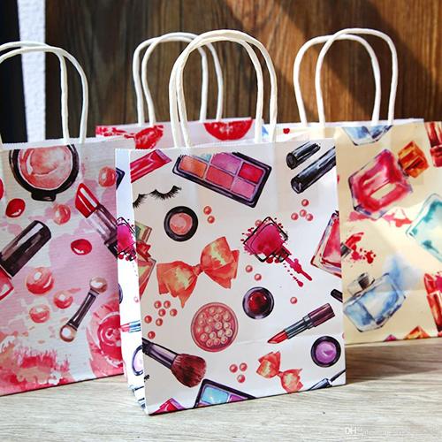 Cosmetic Pattern Printing Paper Bags