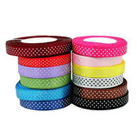 Dot Print Satin Ribbon