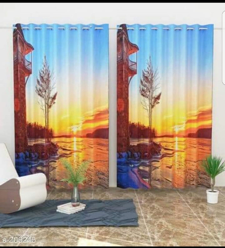 Multicolor Digital Printed Polyester Curtains