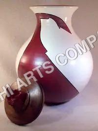Brown & White Urn