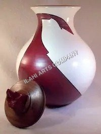 Brown & White Urn