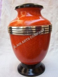 Three Bended Orange Urn
