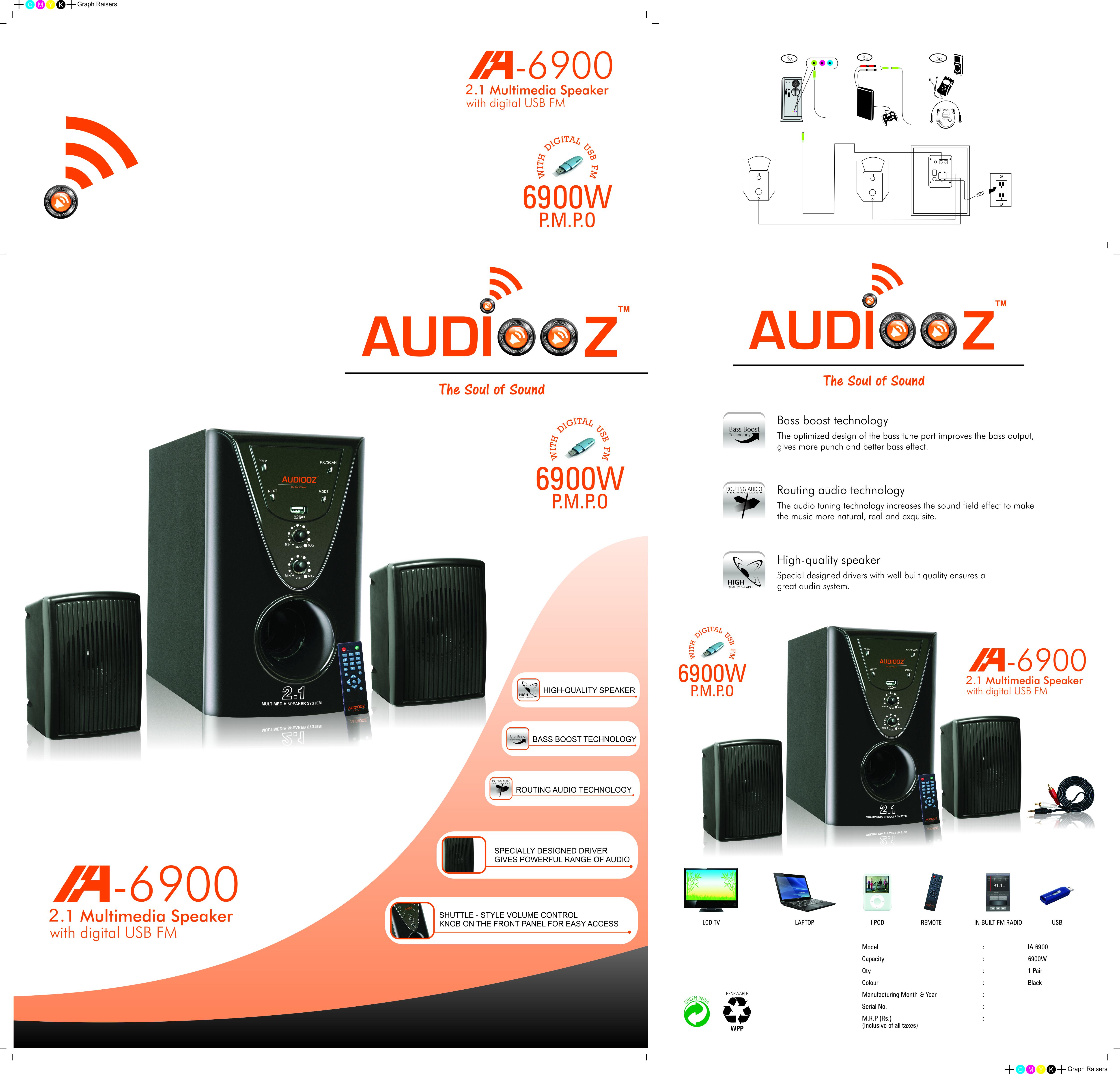 Audiooz Model - 6900