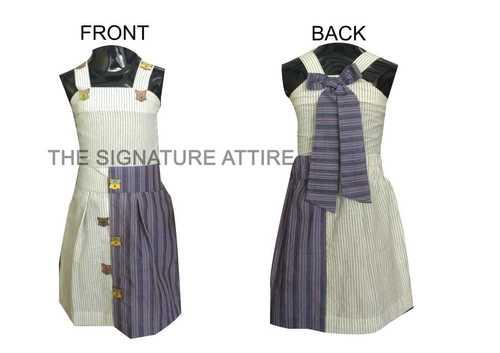 Striped Cotton Two Piece Suits