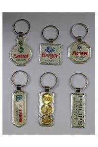 Custom shape metal keychains